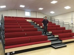 The DoM inspecting his new auditorium....