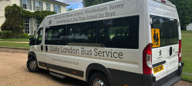 London Bus For Woodcote House School