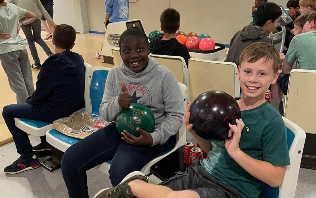 Boarders go bowling!